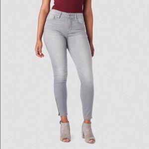 Levi's denizen high rise ankle skinny jeans gray